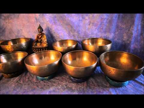 Himalayan River 12 Bowl Antique Healing Set