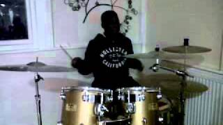 ayo busting some move on the drum kit