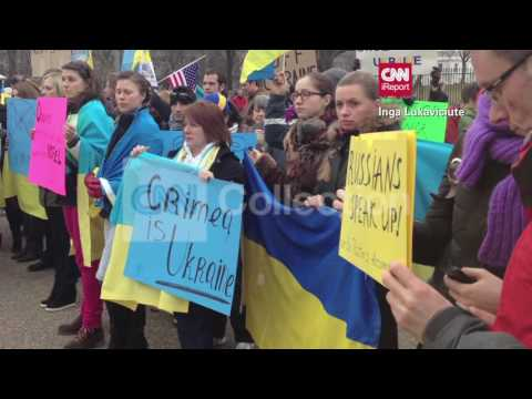 DC:UKRAINE PROTESTS AT WHITE HOUSE