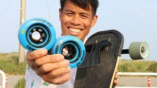 Leiftech Vs Freebord Da Blues Wheels And GIVEAWAY