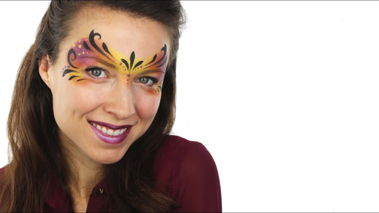 Easy Carnival Mask Face Paint Tutorial Snazaroo