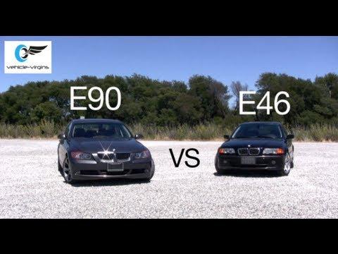 E46 BMW 330i vs E90 BMW 330i Test Drive and Review Part 1