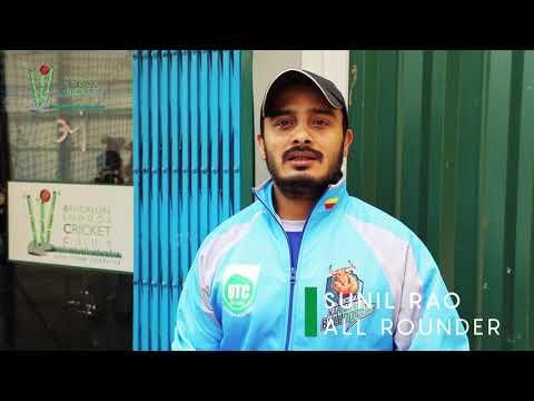 SUNIL RAO|B. K. SUMITRA SON |KARNATAKABULLDOZERS|BICC INDOOR PRACTICE|BANGALORE INDOOR CRICKET CLUB|
