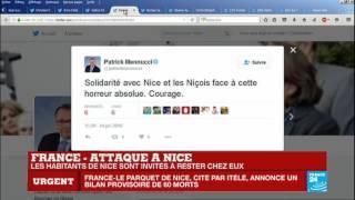 Attentat terroriste à Nice : Des messages de solidarité sur Twitter après l'attaque
