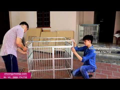 Chuồng chó inox - Chuồng chó inox lắp ghép. Hướng dẫn Phần 2