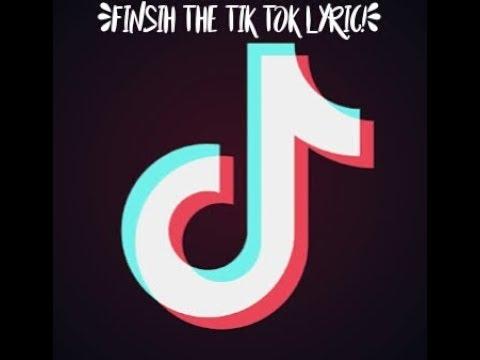 ⭐FINSIH THE TIK TOK LYRIC⭐ (VERY Difficult)
