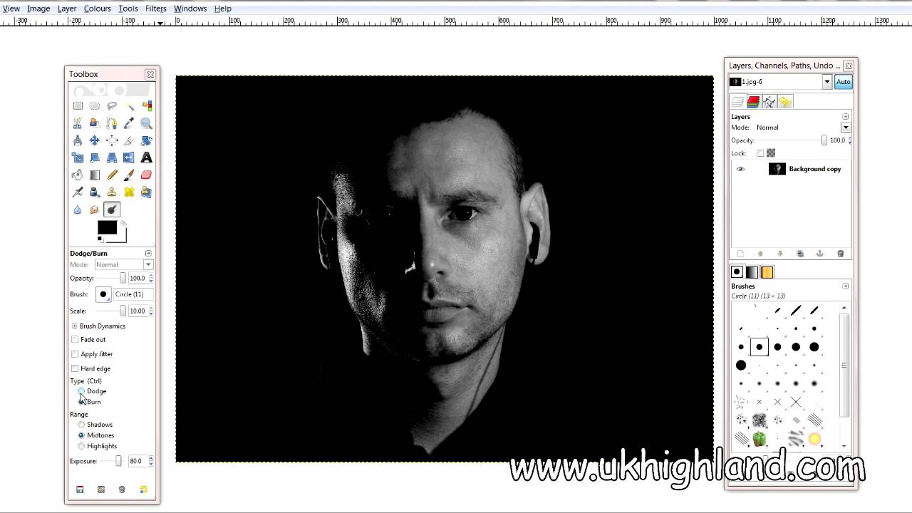 Dodge burn tool in gimp a basic tool youtube sciox Image collections