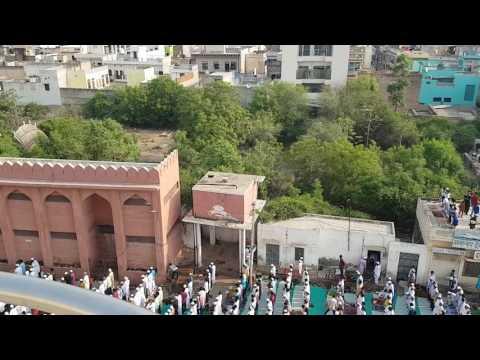 Eid ki namaz 2017 ,Jama masjid, sikar , rajasthan