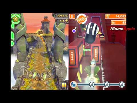 TEMPLE RUN 2 (Karma Lee) vs MINION RUSH - Free game for iPhone iPad (iOS, Android) - 동영상
