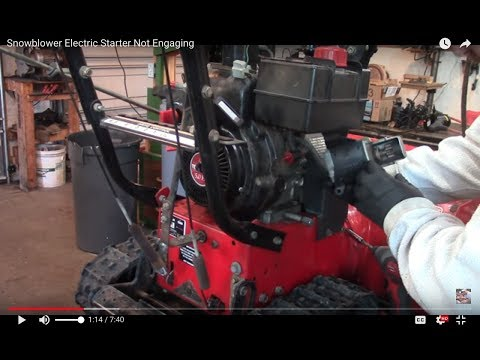 Snowblower Electric Starter Not Engaging