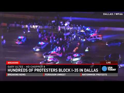 'Hands up, don't shoot' protests sweep nation