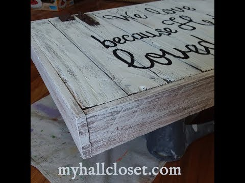 Cheap, Fast and Easy Weathered Wood Distressed Wood Paint Technique