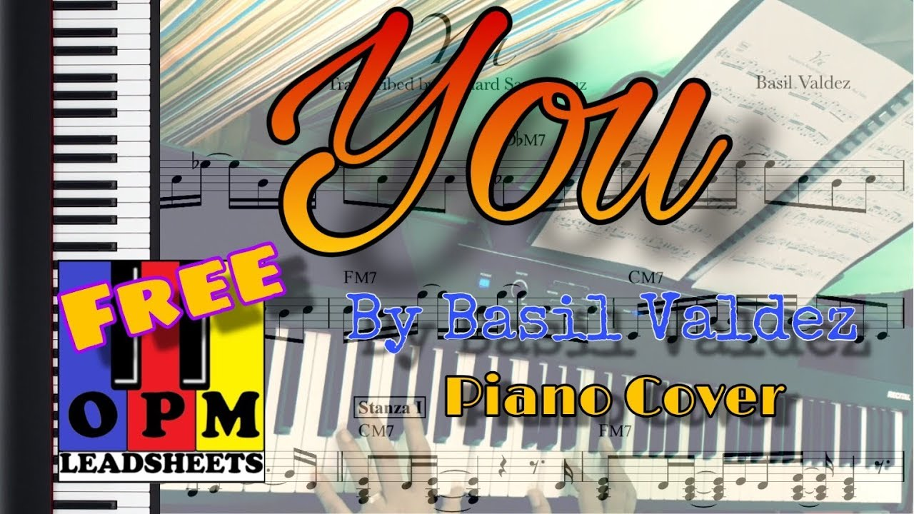 You by basil valdez piano cover youtube.