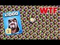 1000 Max Wizard VS Full Base Archer Tower Amazing Attack On Clash Of Clans mp3