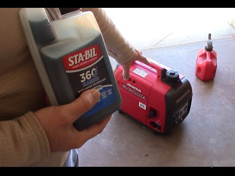 sta bil  marine reviewed cold starting  honda eui generator youtube