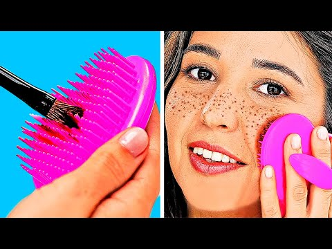 5-MINUTE BEAUTY HACKS || MAKEUP AND STYLE GIRLY IDEAS