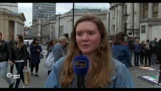 اعتصام في لندن للتضامن مع نساء سوريا في مجزرة الكيماوي