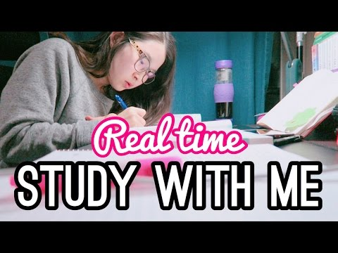 REAL TIME STUDY WITH ME ✍🏻 (REAL TIME STUDY SESSION) I MED SCHOOL STUDENT LIFE l twinklinglena