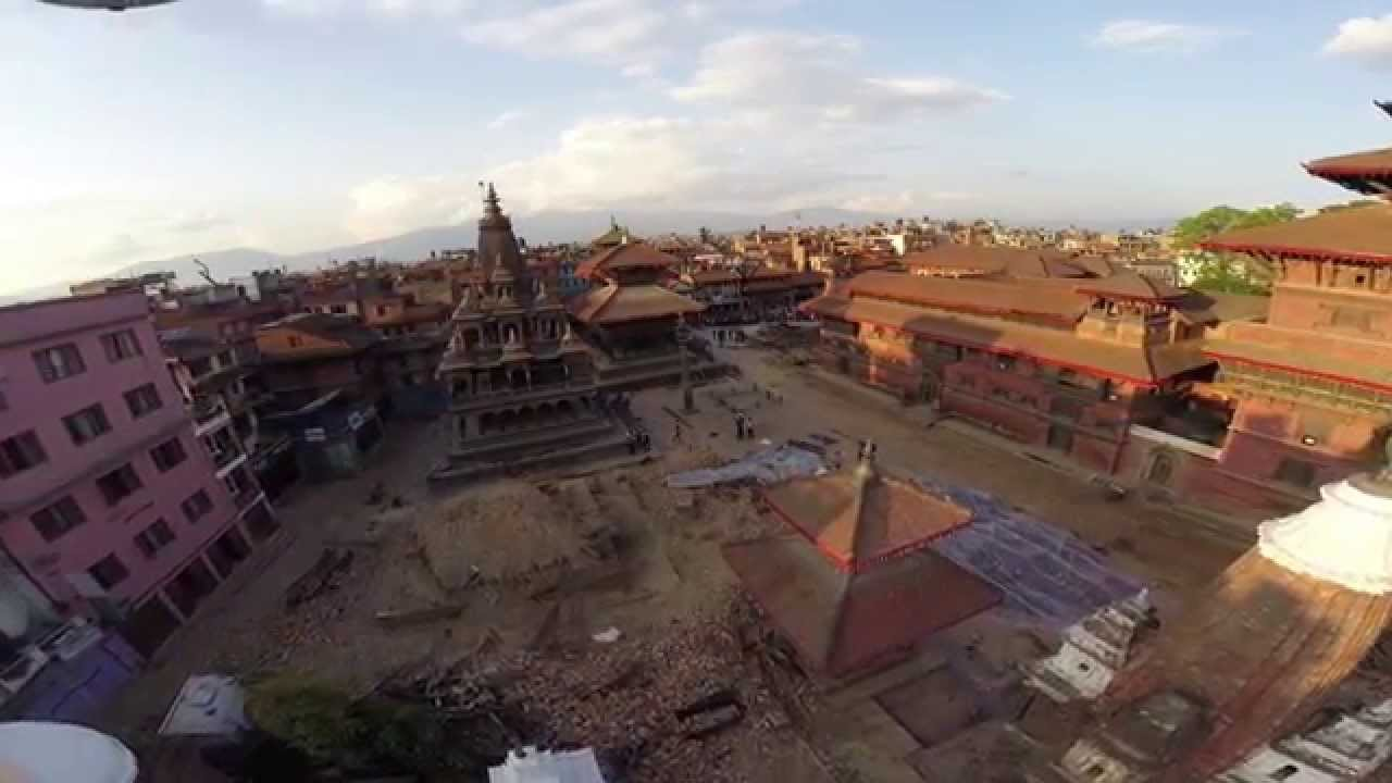 earthquake first aerial shot of kathmandu patan durbar earthquake first aerial shot of kathmandu patan durbar square since earthquake