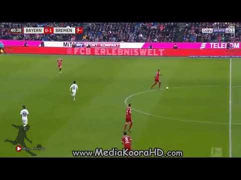اهداف مباراة فيردر بريمن و بايرن ميونخ 2-4