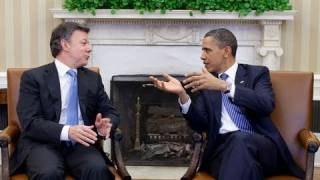 President Obama Meets With Colombian President Santos