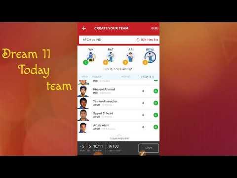 Afg vs Ind dream 11 Today team || 💯% win prediction || prediction for Ind vs Afg