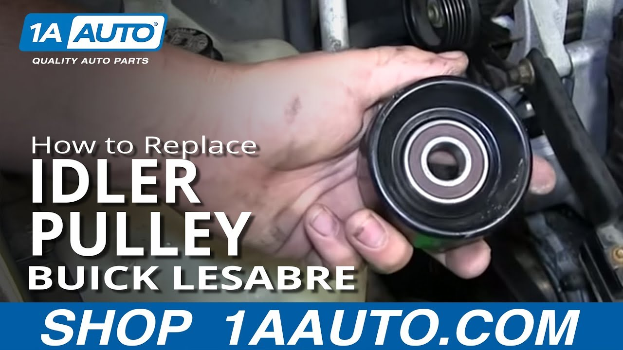 small resolution of how to install replace squeaking serpentine belt tensioner pulley 1997 99 buick lesabre youtube