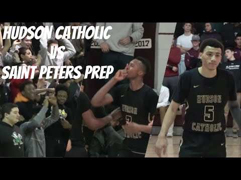 Hudson Catholic vs St Peters Gets CHIPPY!! Jersey City Rivalry Renewed! Jahvon Quinerly Goes for 18