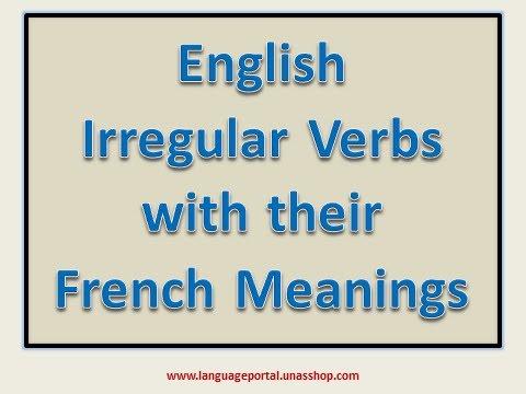 english irregular verbs french translation pdf