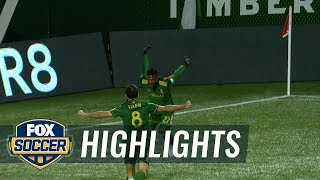 Dairon Asprilla opens up the scoring for Portland | 2017 MLS Playoffs Highlights