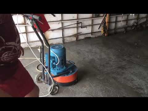 Как отшлифовать бетонный пол в гараже своими руками