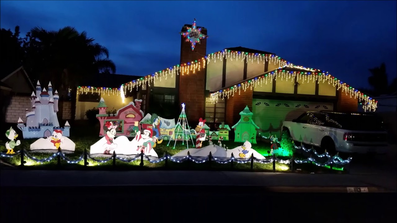 Christmas Lights In Camarillo 2021 2017 Residential Holiday Light Display In Camarillo Youtube