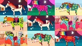 Развивающие мультики про лошадь. Украшаем лошадку у цирк. Мультфильм про зверей в цирке.