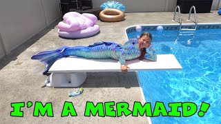 Mermaid In The Pool! Fin Fun Mermaid Tail
