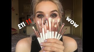 TESTING A £11 MAKE UP BRUSH SET FROM ALIEXPRESS OMG !!!!