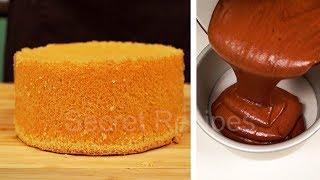 Идеальный классический шоколадный и ванильный шифоновый бисквит | Chiffon cake