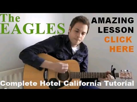 how to play hotel california on guitar hotel california chords easy guitar lesson youtube. Black Bedroom Furniture Sets. Home Design Ideas