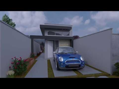Projeto casa 3d sobrado 5x25 funnydog tv for Casa moderna 64