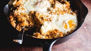 Tamale Hash & Baked Eggs