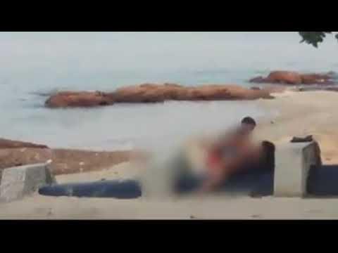Секс на пляже в паттайе