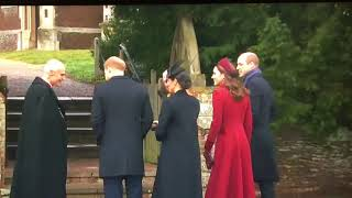 Queen & British Royal Family Arrive At church | Christmas Day Morning 2018