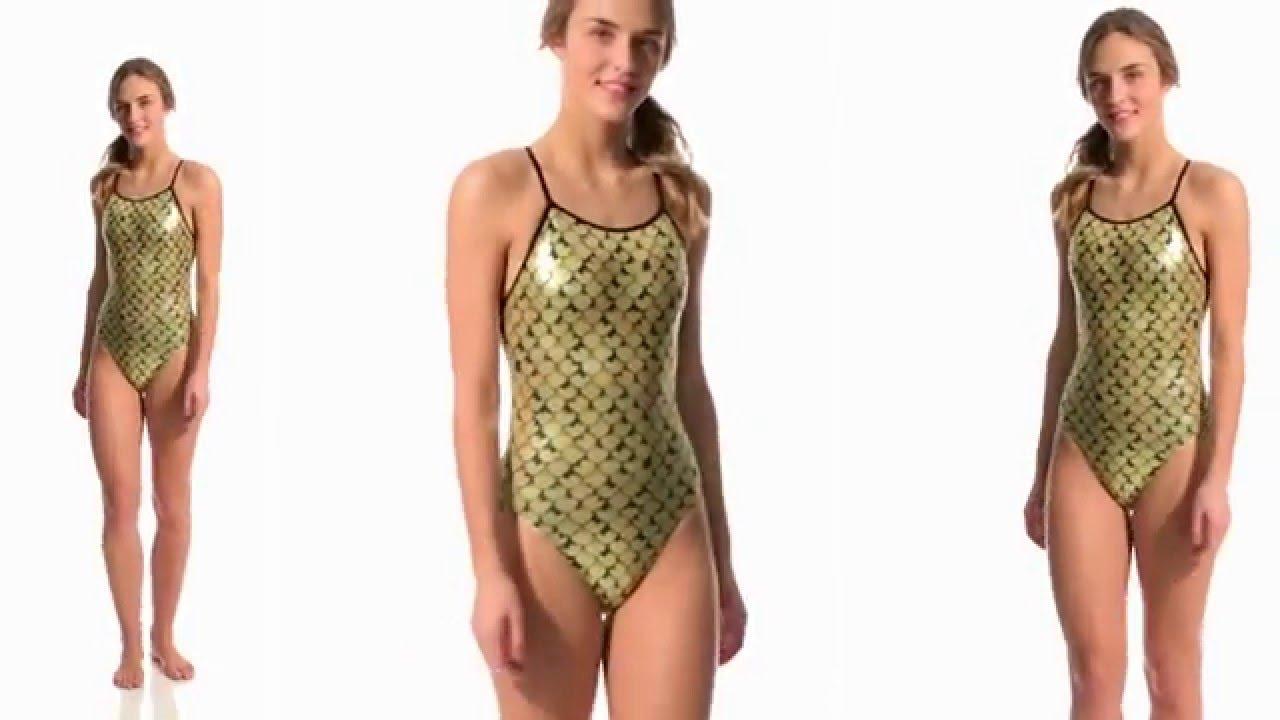 1539c40c62 Shiny gold swimsuit - YouTube