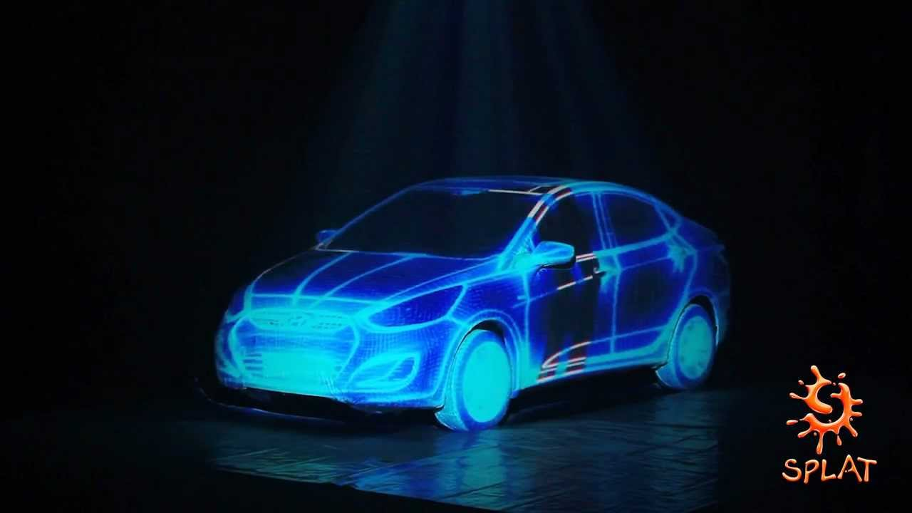 Hyundai Verna 3d Car Projection Mapping Youtube