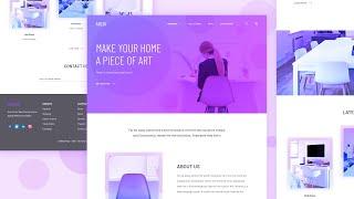 Archi Landing Page - Using HTML, CSS / SASS, Vanilla JS