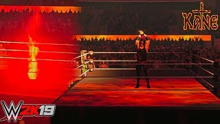 WWE 2K19: Ring Mat Trons GFX for Entrances ft. Kane (PC Mods) - WIP
