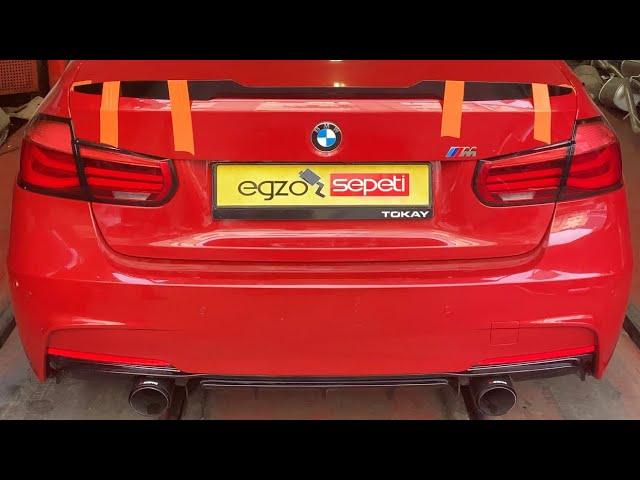 BMW F30 3.20 KUMANDALI PERFORMANS EGZOZ SESİ