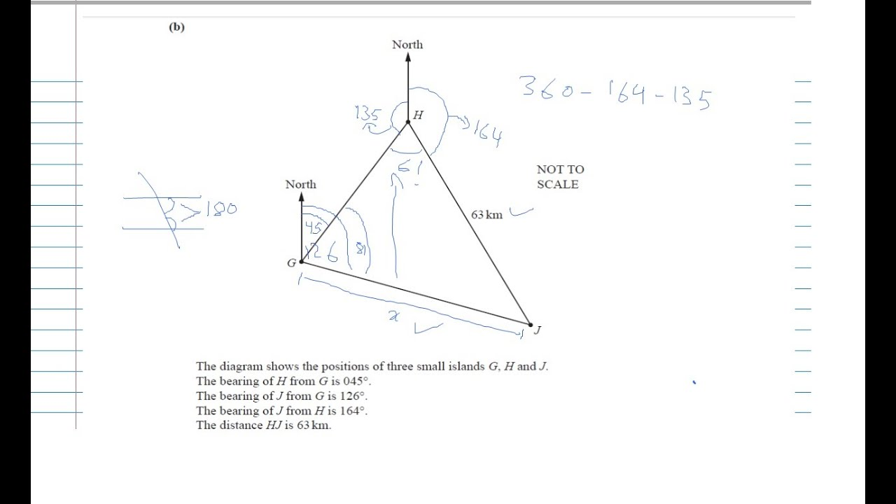 QUESTION 7 PAPER 4 VAR 1 MAY/JUNE 15 IGCSE MATHS WORKED