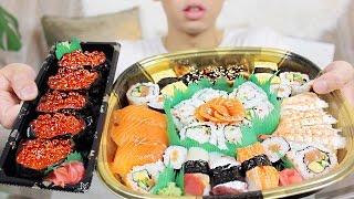 SUSHI MUKBANG   Assorted Platter + Ikura   Eating Show