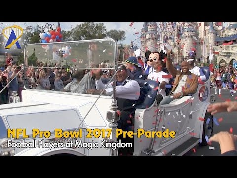 Special NFL Pro Bowl 2017 Pre-Parade at the Magic Kingdom