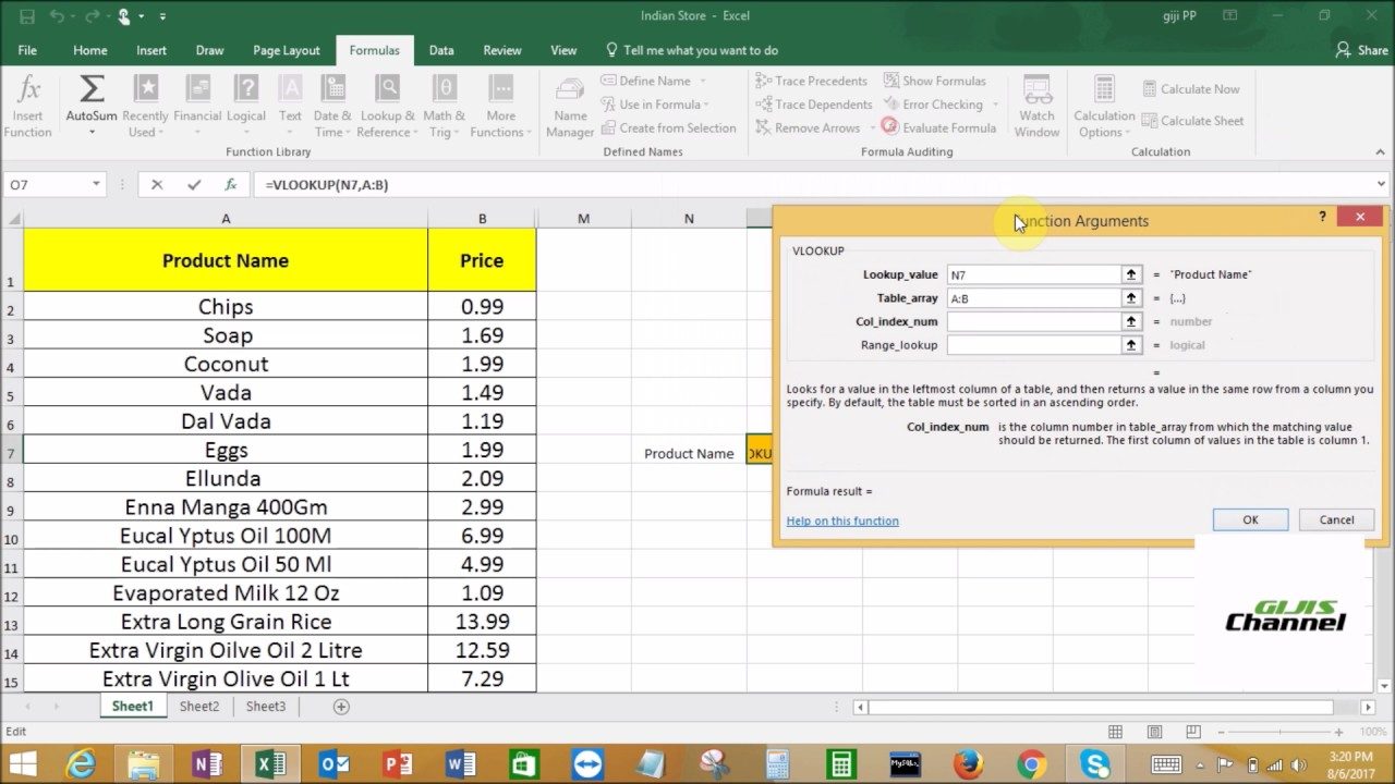 Learn VLookup function in Excel 2016 multiple sheets easily in less than 5  minutes | Gijis Channel